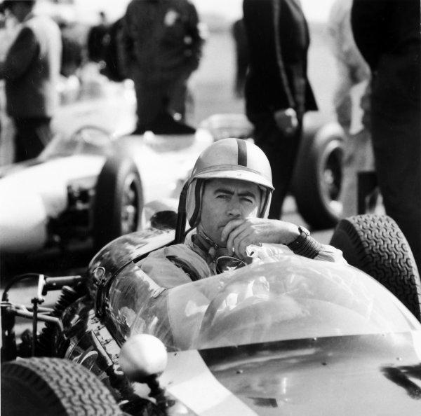 1961 Monaco Grand Prix.Monte Carlo, Monaco.11-14 May 1961.Jack Brabham (Cooper T55 Climax), portrait.Ref-8058.World Copyright - LAT Photographic