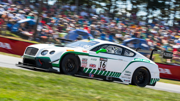 31 July - 2 August, 2015, Lexington, Ohio USA Chris Dyson, #16 Bentley Continental GT3?2015, Brian Cleary LAT Photo USA