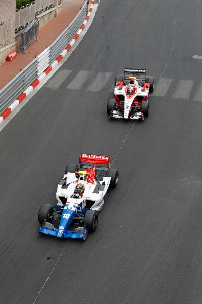 Monte Carlo, Monaco. 15th May 2010. Saturday Race.Charles Pic (FRA, Arden International) leads Sam Bird (GBR, ART Grand Prix). Action. Photo: Glenn Dunbar/GP2 Media Service.Ref: _G7C0767 jpg