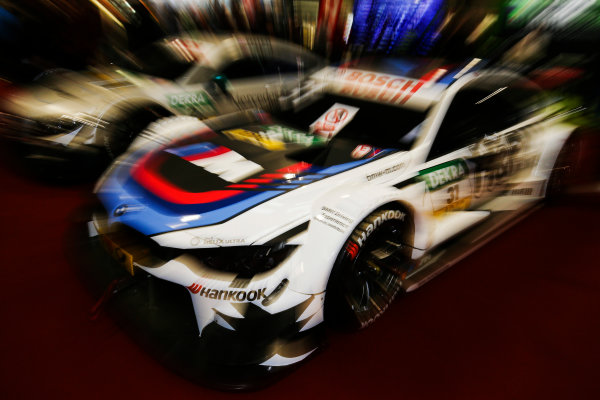 Autosport International Exhibition. National Exhibition Centre, Birmingham, UK. Saturday 13th January 2018. BMW and Mercedes DTM cars on display.World Copyright: James Roberts/JEP/LAT Images Ref: JR2_5438