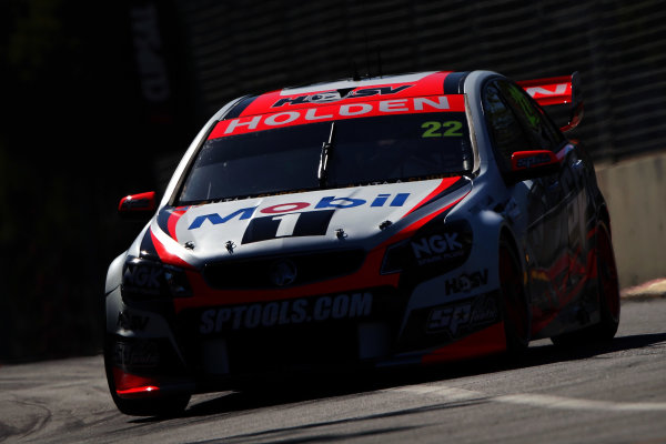 2014 V8 Supercar Championship. Round 1. Clipsal 500, Adelaide. 3rd March 2014. Sunday Race 2 .  James Courtney drives the #22 Holden Racing Team Holden Action.  World Copyright: Daniel Kalisz/LAT Photographic Ref: Digital Image040314DKIMG0001.JPG