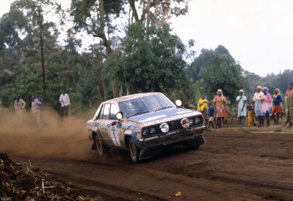 1980 World Rally Championship. Safari Rally, Kenya. 3-7 April 1980. Shekhar Mehta/Mike Doughty (Datsun 160J), 1st position. World Copyright: LAT Photographic Ref: 35mm transparency 80RALLY04