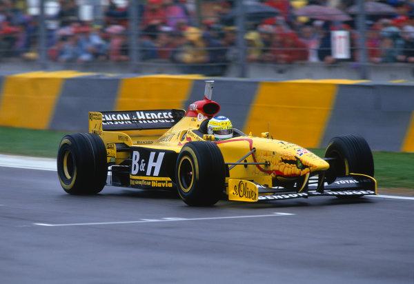 Imola, Italy. 25-27 April 1997.Giancarlo Fisichella (Jordan 197 Peugeot).Ref-97 SM 30.World Copyright - LAT Photographic