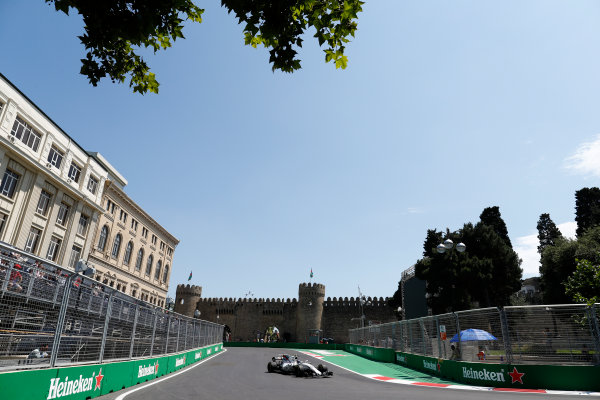 Baku City Circuit, Baku, Azerbaijan. Friday 23 June 2017. Lance Stroll, Williams FW40 Mercedes. World Copyright: Glenn Dunbar/LAT Images ref: Digital Image _31I9318