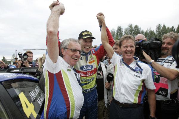 Round 08Rally Finland 29-31 July 2010Jari-Matti Latvala, Ford WRC, PodiumWorldwide Copyright: McKlein/LAT