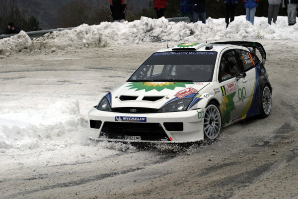 2004 FIA World Rally Champs. Round one, Monte Carlo Rally.22nd-25th January 2004.Francois Duval, Ford, Action.World Copyright: McKlein/LAT