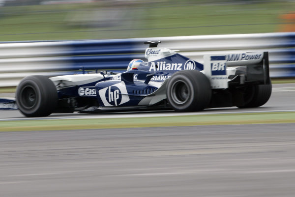 2004 British Grand Prix - Friday Practice,Silverstone, Britain. 09th July 2004 Marc Gene, BMW Williams FW26, action.World Copyright: Steve Etherington/LAT Photographic ref: Digital Image Only