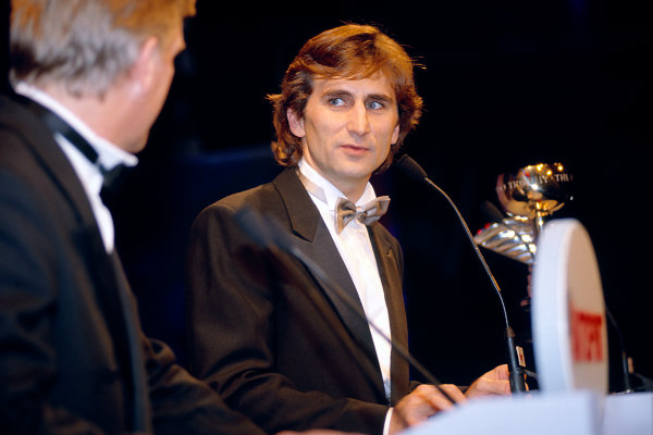 1997 Autosport Awards. Grosvenor House Hotel, Park Lane, London. 7 December 1997. Alessandro Zanardi receives an award.  World Copyright: Gold/LAT Photographic. ref: 35mm Transparency Image