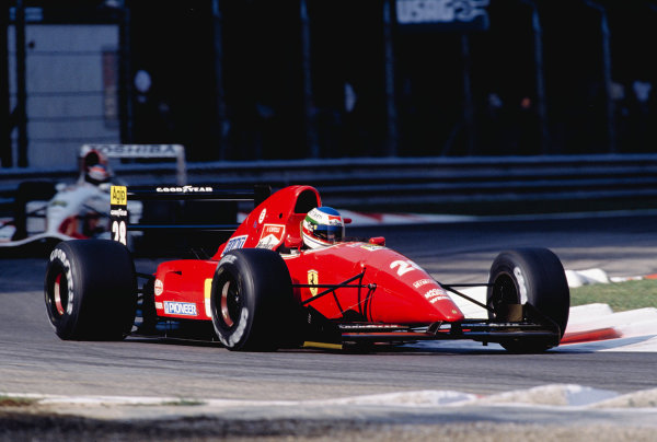 1992 Italian Grand Prix.Monza, Italy. 11-13 September 1992.Ivan Capelli (Ferrari F92AT).Ref-92 ITA 18.World Copyright - LAT Photographic