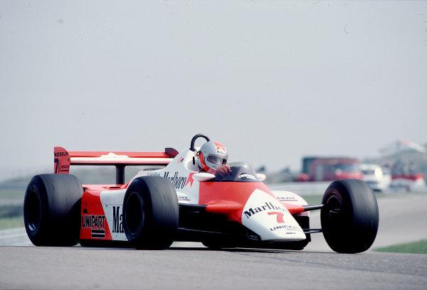 1982 Dutch Grand Prix.Zandvoort, Holland.1-3 July 1982.John Watson (McLaren MP4/1B Ford) 9th position.Ref-82 HOL 76.World Copyright - LAT Photographic