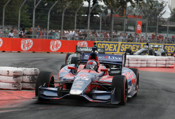4-5 May, 2013, Sao Paulo, Brazil Marco Andretti leads Oriol Servia and Dario Franchitti ©2013, Phillip Abbott LAT Photo USA