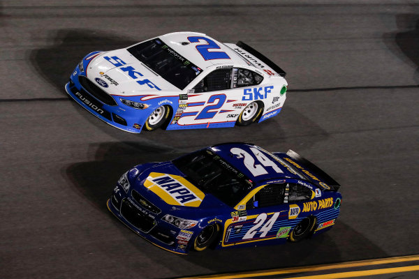2017 NASCAR Cup - Clash at Daytona Daytona International Speedway, Daytona, FL USA Friday 17 February 2017 Chase Elliott, Brad Keselowski World Copyright: Michael L. Levitt/LAT Images ref: Digital Image _AT_5484