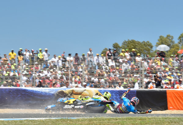 2017 MotoGP Championship - Round 4 Jerez, Spain Sunday 7 May 2017 Jack Miller, Estrella Galicia 0,0 Marc VDS, Alvaro Bautista, Aspar Racing Team crash World Copyright: Gold & Goose Photography/LAT Images ref: Digital Image 16036