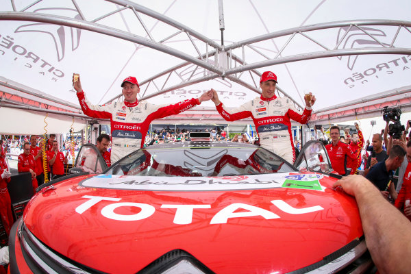 2017 FIA World Rally Championship, Round 03 , Rally Mexico, February 08-12, 2017, Kris Meeke and Paul Nagle Celebrate victory, Citroen, Worldwide Copyright: McKlein/LAT