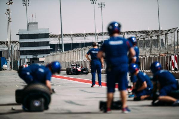 Bahrain International Circuit, Sakhir, Bahrain. Wednesday 29 March 2017 Nabil Jeffri (MAS) Trident  Photo: Malcolm Griffiths/FIA Formpula 2 ref: Digital Image MALC4727 2