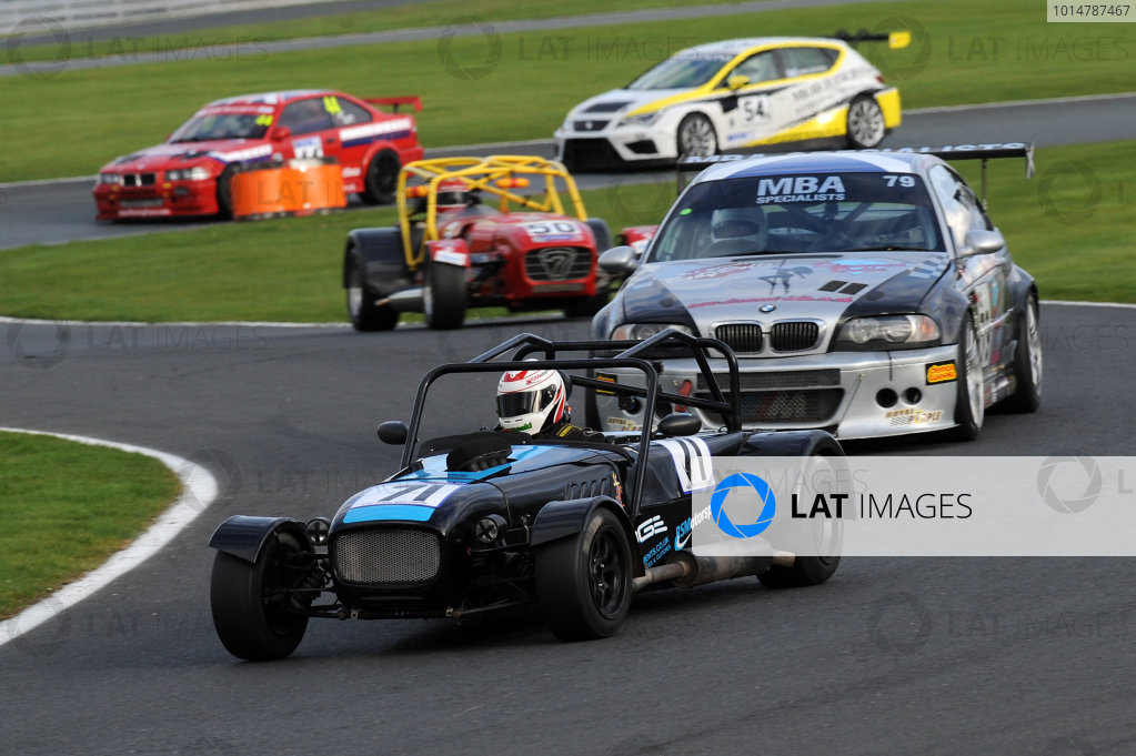 2017 DDMC Northern Saloon & Sports Car Championship, Oulton Park, Cheshire. 15th April 2017. Rob Spencer Stuart Taylor Lowcost. World Copyright: JEP/LAT Images.