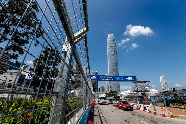 2016/2017 FIA Formula E Championship. Hong Kong ePrix, Hong Kong, China. Thursday 6 October 2016. A view of the start/finish straight. Photo: Zak Mauger/LAT/Formula E ref: Digital Image _X0W1045