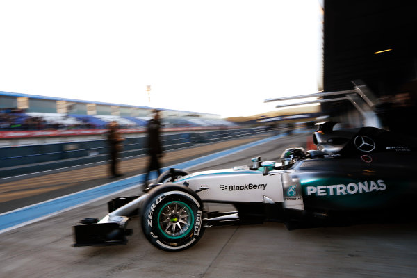 2015 F1 Pre Season Test 1 - Day 1 Circuito de Jerez, Jerez, Spain. Sunday 01 February 2015. Nico Rosberg, Mercedes F1 W06 Hybrid.  World Copyright: Alastair Staley/LAT Photographic. ref: Digital Image _79P8418