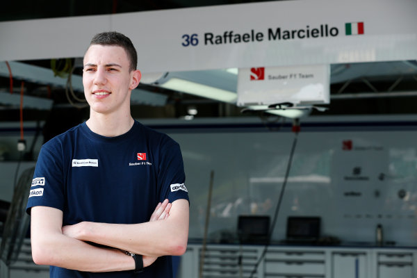 Sepang International Circuit, Sepang, Kuala Lumpur, Malaysia. Thursday 26 March 2015. Raffaele Marciello, Test and Reserve Driver, Sauber. World Copyright: Alastair Staley/LAT Photographic. ref: Digital Image _R6T3495