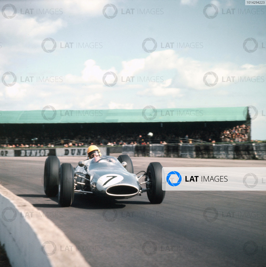 1963 International Trophy  Silverstone, England. 9th - 11th May 1963.  Tony Maggs (unpainted Cooper T66 Climax).  Ref-3/1004B. World Copyright - LAT Photographic