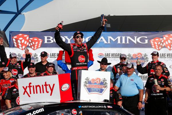 6-7 March, 2015, Las Vegas, Nevada USA Austin Dillon celebrates in victory lane ?2014, Lesley Ann Miller LAT Photo USA