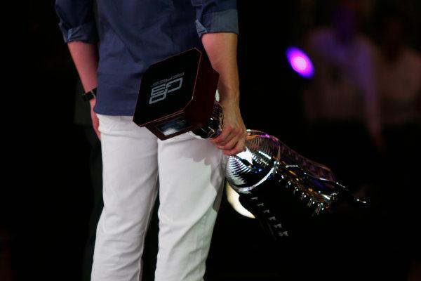 2013 GP2/3 Awards Evening. Yas Marina Circuit, Abu Dhabi, United Arab Emirates. Sunday 23 November 2014. Alex Lynn (GBR, Carlin). Photo: Zak Mauger/GP3 Series Media Service. ref: Digital Image _L0U8617