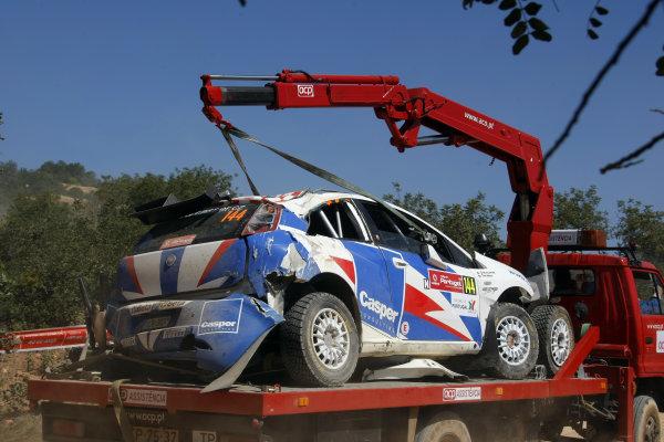 Round 04Rally Portugal 2- 5 of April 2009Jaromir Tarabus, Fiat S2000, AccidentWorldwide Copyright: McKlein/LAT