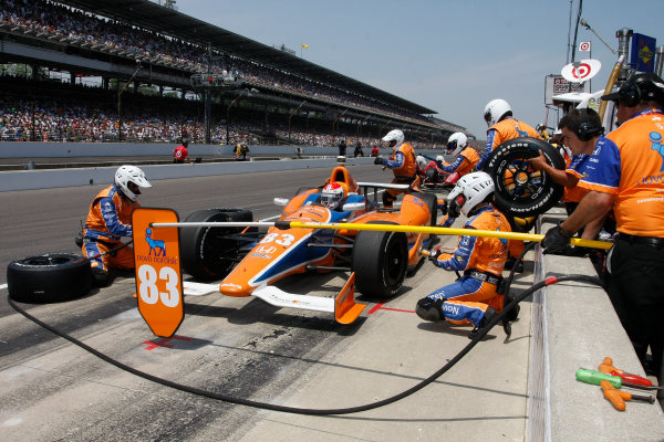 27 May, 2012, Indianapolis Motor Speedway, Indiana, USACharlie Kimball in for tires and fuel.(c) 2012, Todd DavisLAT Photo USA