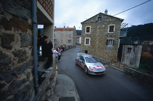 2002 World Rally ChampionshipTour De Corse, Corsica. 8th - 10th March 2002.Marcus Gronholm / Timo Rautianen, Peugeot 206 WRC, 2nd position overall.World Copyright: McKlein/LAT Photographicref: 35mm Image 02 WRC 03