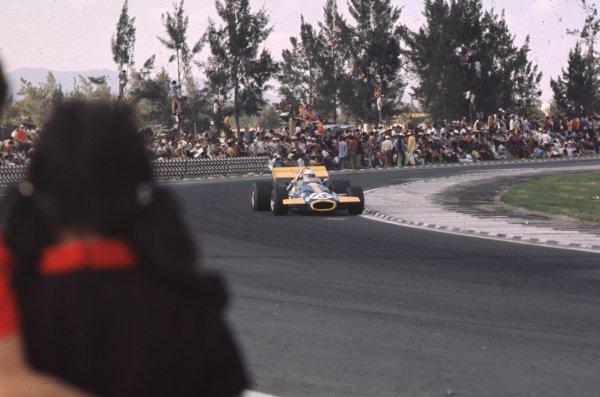1970 Mexican Grand Prix.Mexico City, Mexico.23-25 October 1970.Jack Brabham (Brabham BT33 Ford).Ref-70 MEX 60.World Copyright - LAT Photographic