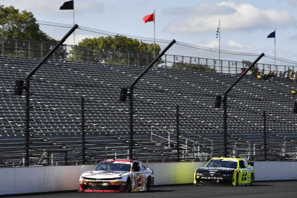 #2: Tyler Reddick, Richard Childress Racing, Chevrolet Camaro Anderson's Maple Syrup and #22: Austin Cindric, Team Penske, Ford Mustang Menards/Richmond