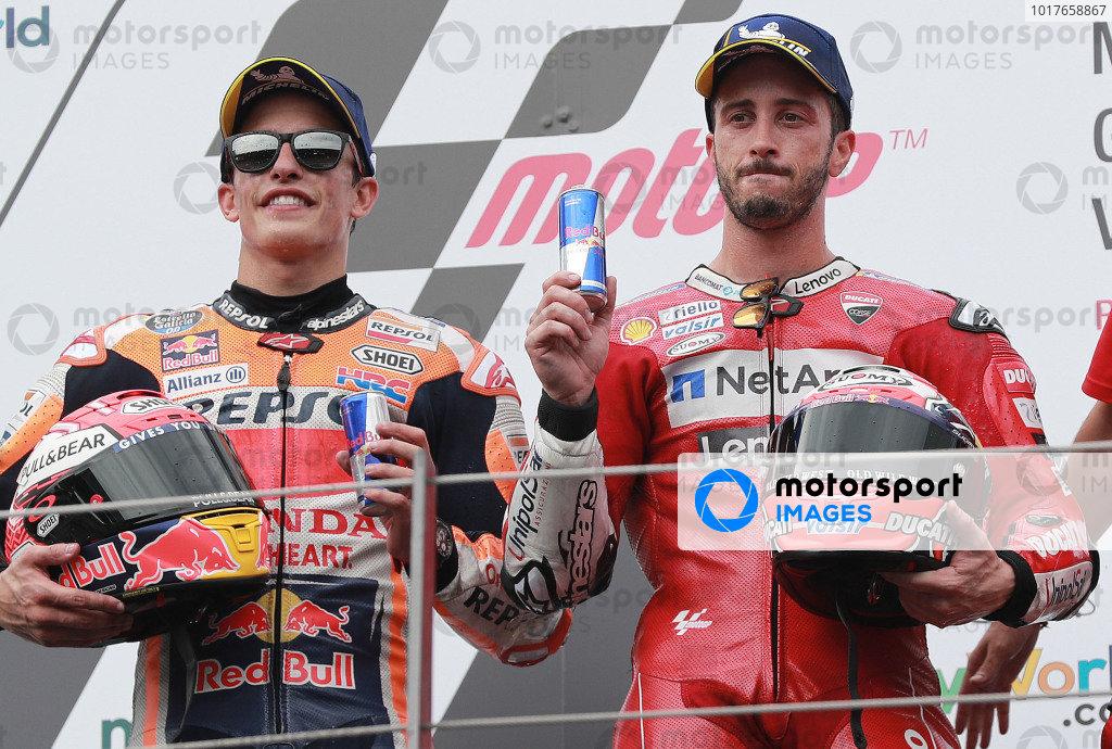 Podium: race winner Andrea Dovizioso, Ducati Team, second place Marc Marquez, Repsol Honda