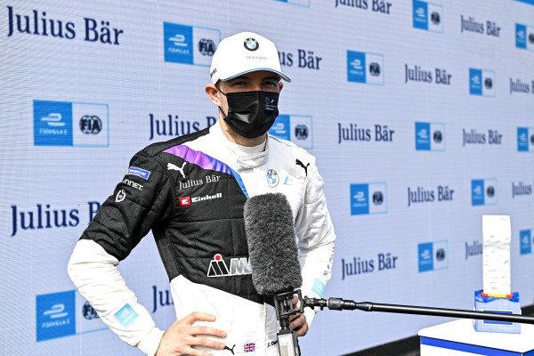 Pole Sitter Jake Dennis (GBR), BMW I Andretti Motorsport being interviewed