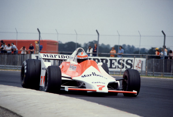 1979 British Grand Prix.Silverstone, England.12-14 July 1979.John Watson (McLaren M29 Ford) 4th position.Ref-79 GB 21.World Copyright - LAT Photographic