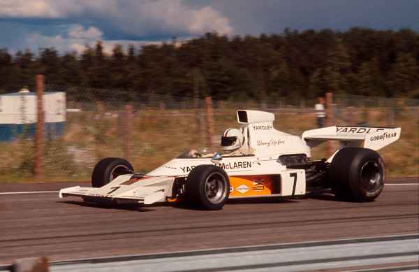 1973 Swedish Grand Prix.Anderstorp, Sweden.15-17 June 1973.Denny Hulme (McLaren M23 Ford) 1st position.Ref-73 SWE 09.World Copyright - LAT Photographic