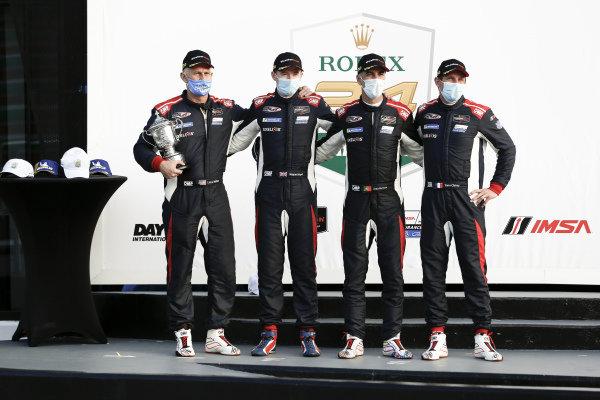 #33 Sean Creech Motorsport Ligier JS P320, LMP3: Wayne Boyd, Yann Clairay, Lance Willsey, Joao Barbosa 2nd place, victory lane