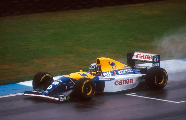 1993 European Grand Prix. Donington Park, England. 9-11 April 1993. Damon Hill (Williams FW15C Renault) 2nd position. Ref-93 EUR 21. World Copyright - LAT Photographic