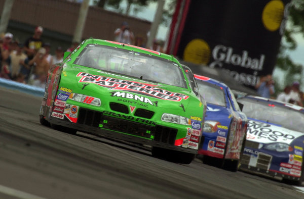 "Bobby Labonte leads a group through the ""Inner Loop"".