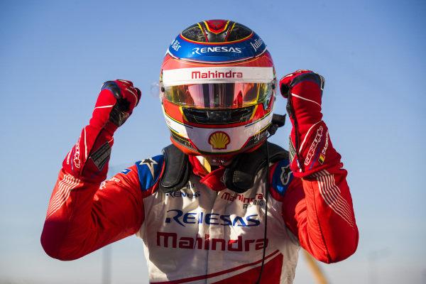 Jérôme d'Ambrosio (BEL), Mahindra Racing, celebrates victory