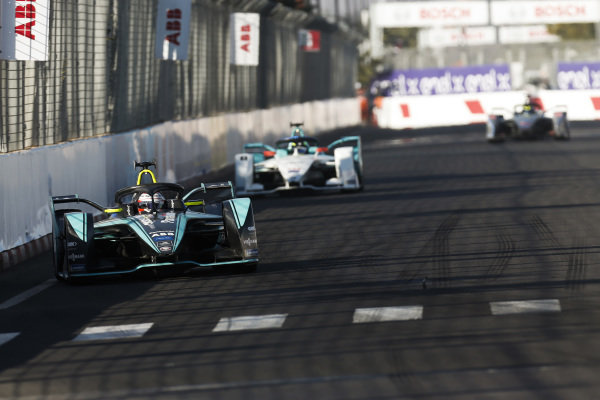 Nelson Piquet Jr. (BRA), Panasonic Jaguar Racing, Jaguar I-Type 3, leads Tom Dillmann (FRA), NIO Formula E Team, NIO Sport 004