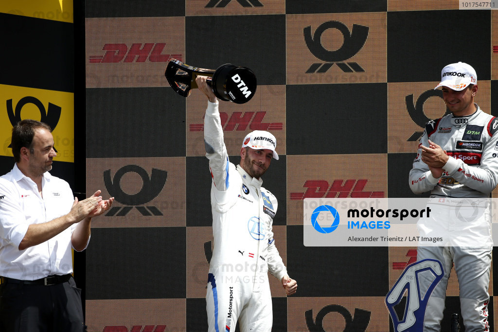 Podium: second place Philipp Eng, BMW Team RBM.