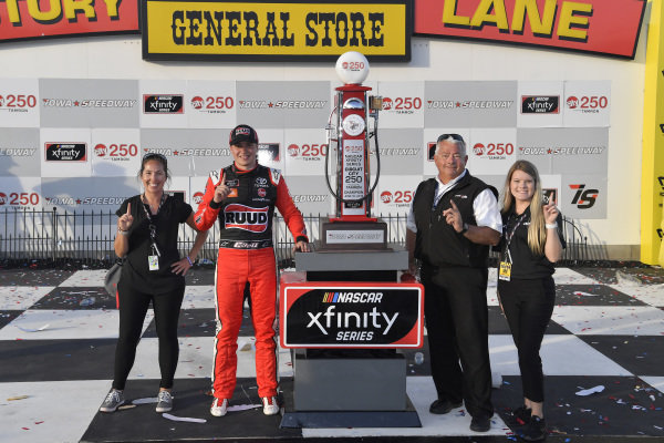 #20: Christopher Bell, Joe Gibbs Racing, Toyota Supra Ruud  #20: Christopher Bell wins the CircuitCity.com 250 at Iowa Speedway