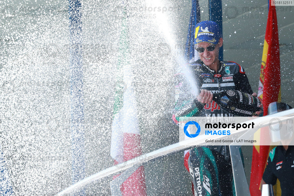 Race winner Fabio Quartararo, Petronas Yamaha SRT.