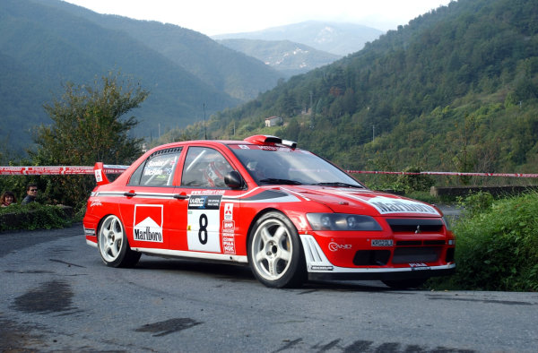 2002 World Rally Championship.Rallye d'Italia, 20-22 September.Sanremo, Italy.Alister McRae during shakedown.Photo: Ralph Hardwick/LAT