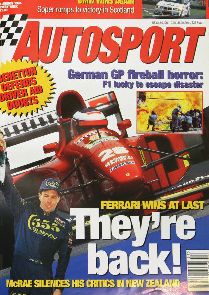 Cover of Autosport magazine, 4th August 1994