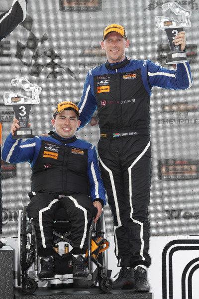 #54 JDC-Miller MotorSports, Audi RS3 LMS TCR, TCR: Michael Johnson, Stephen Simpson, podium