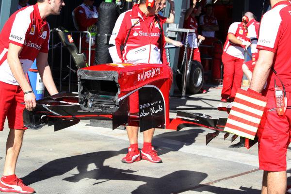 Ferrari F138 nose and front wing. Formula One World Championship, Rd1, Australian Grand Prix, Preparations, Albert Park, Melbourne, Australia, Thursday 14 March 2013.