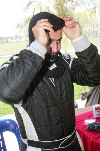 Sheikh Maktoum Hasher Maktoum Al Maktoum (UAE) President of A1 Grand Prix prepares to practice for the Proton R3 Celebrity race. Proton Celebrity Race, A1 Grand Prix, Rd5, Sepang, Malaysia, 19-20 November 2005. DIGITAL IMAGE