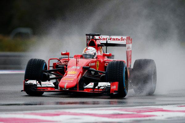 Paul Ricard, France. Tuesday 26 January 2016. Sebastian Vettel, Ferrari SF15-T. World Copyright: Steven Tee/LAT Photographic ref: Digital Image _L4R6351