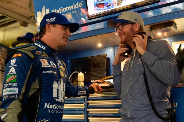 30 September-2 October, 2016, Dover, Delaware USA Jeff Gordon and Dale Earnhardt Jr. ? 2016, Nigel Kinrade LAT PHOTO USA